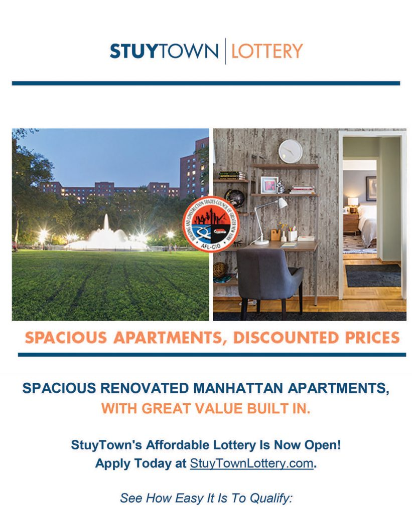 Apply Now For Affordable Housing With Stuy Town Lottery Nycdcc